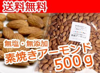 素焼きアーモンド500